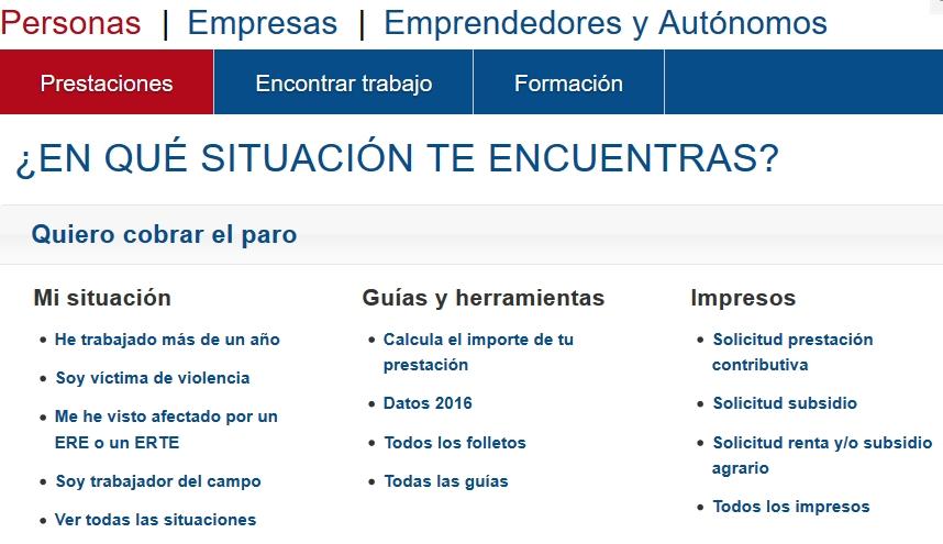Ayuda a desempleados - Paros, prestaciones, subsidios y formularios online.