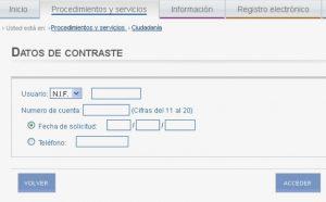 Datos de contraste - Prestaciones y certificados