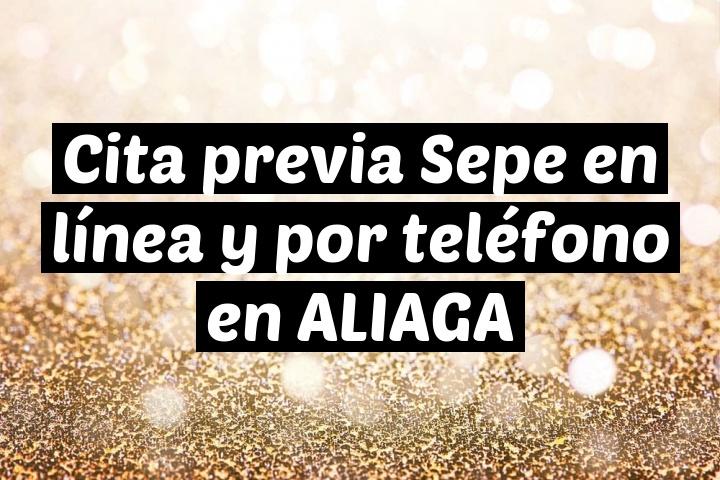 Cita previa Sepe en línea y por teléfono en ALIAGA