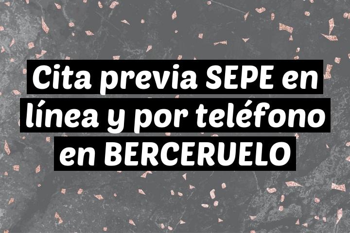 Cita previa SEPE en línea y por teléfono en BERCERUELO