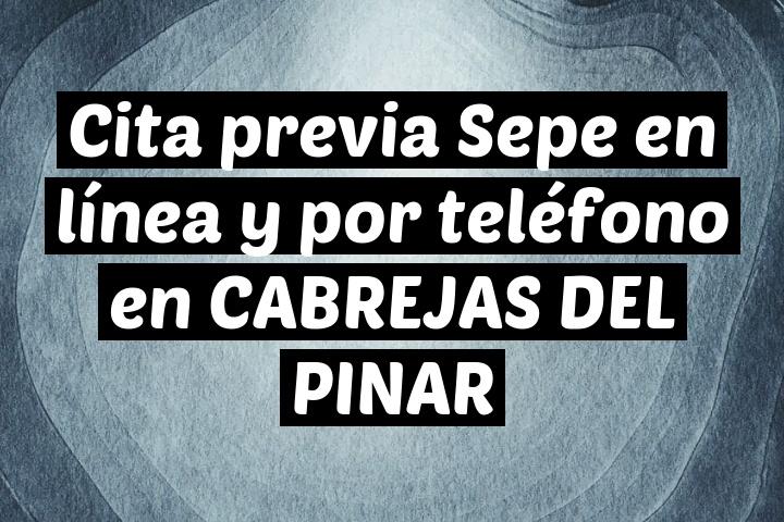 Cita previa Sepe en línea y por teléfono en CABREJAS DEL PINAR