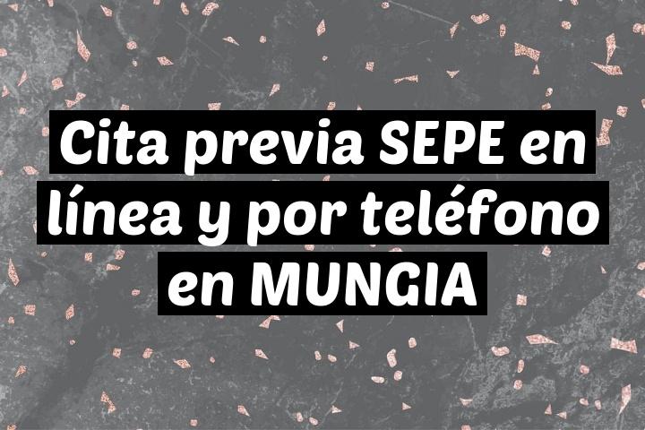 Cita previa SEPE en línea y por teléfono en MUNGIA