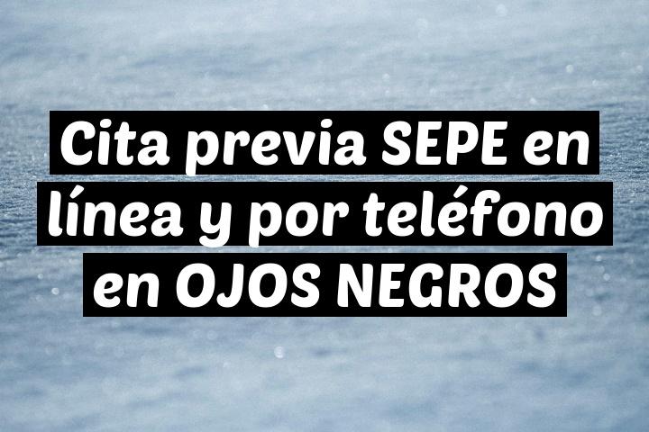 Cita previa SEPE en línea y por teléfono en OJOS NEGROS