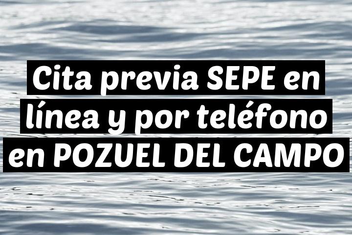 Cita previa SEPE en línea y por teléfono en POZUEL DEL CAMPO