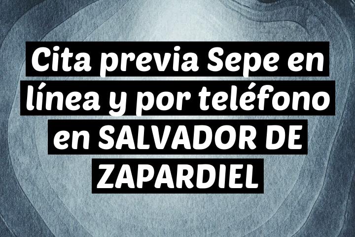 Cita previa Sepe en línea y por teléfono en SALVADOR DE ZAPARDIEL