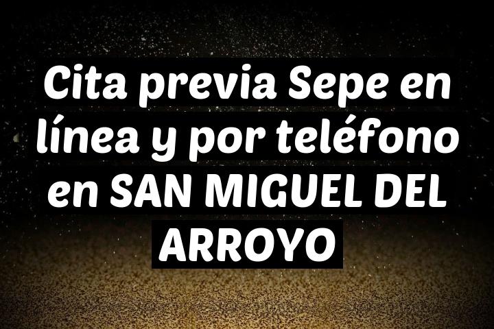Cita previa Sepe en línea y por teléfono en SAN MIGUEL DEL ARROYO