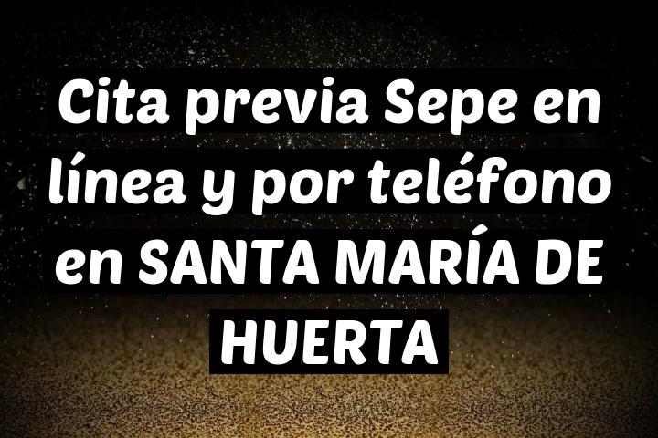 Cita previa Sepe en línea y por teléfono en SANTA MARÍA DE HUERTA