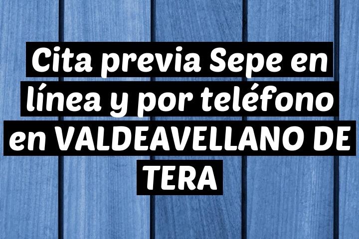 Cita previa Sepe en línea y por teléfono en VALDEAVELLANO DE TERA