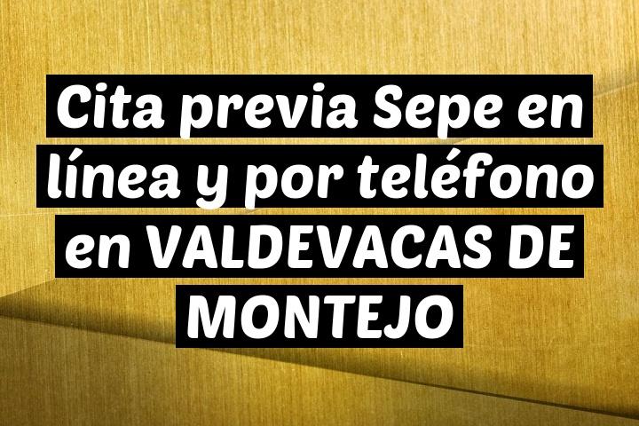 Cita previa Sepe en línea y por teléfono en VALDEVACAS DE MONTEJO