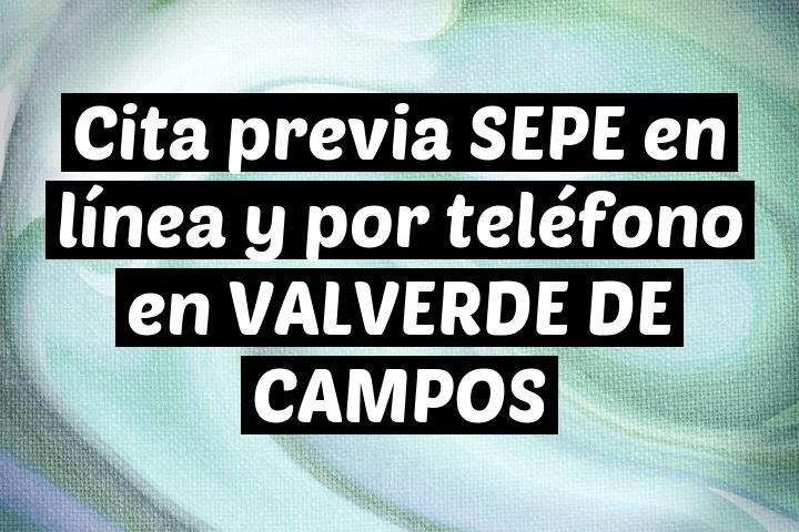 Cita previa SEPE en línea y por teléfono en VALVERDE DE CAMPOS