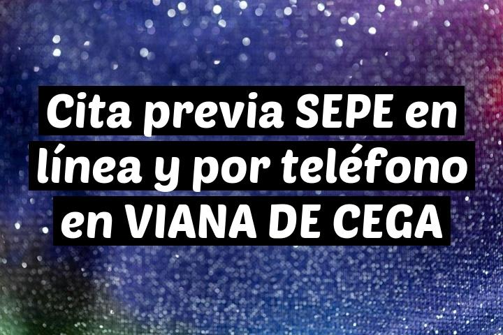 Cita previa SEPE en línea y por teléfono en VIANA DE CEGA