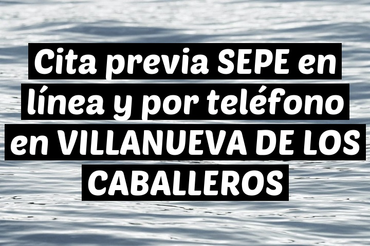Cita previa SEPE en línea y por teléfono en VILLANUEVA DE LOS CABALLEROS