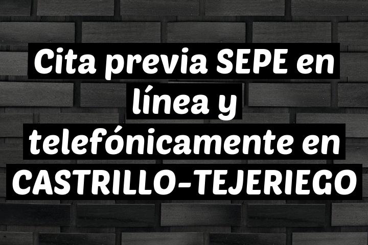Cita previa SEPE en línea y telefónicamente en CASTRILLO-TEJERIEGO