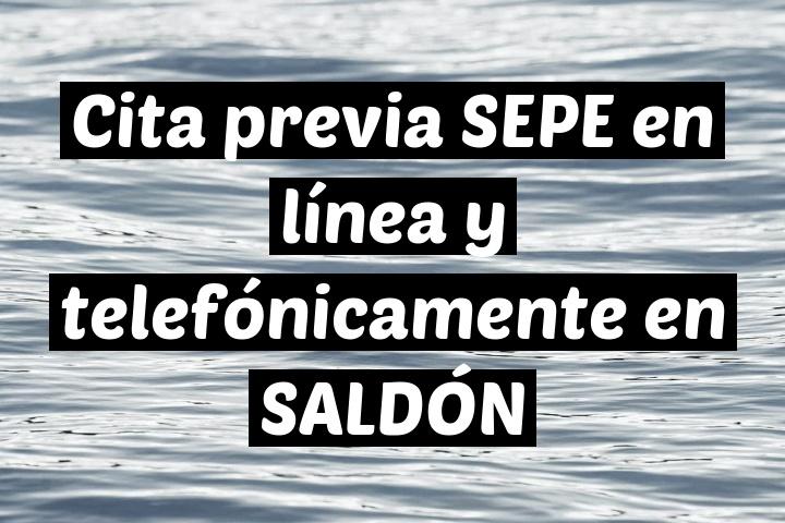 Cita previa SEPE en línea y telefónicamente en SALDÓN