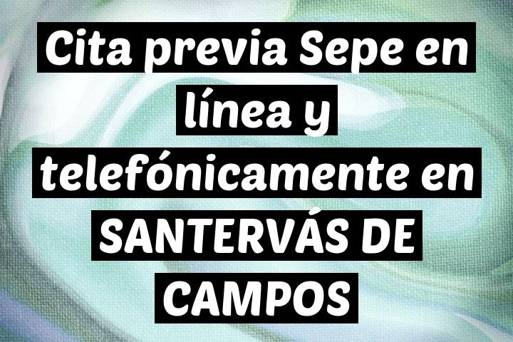 Cita previa Sepe en línea y telefónicamente en SANTERVÁS DE CAMPOS