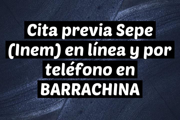 Cita previa Sepe (Inem) en línea y por teléfono en BARRACHINA