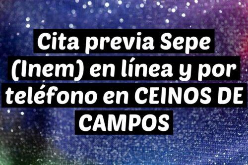 Cita previa Sepe (Inem) en línea y por teléfono en CEINOS DE CAMPOS