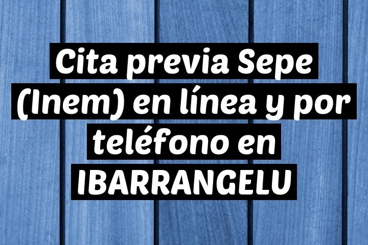 Cita previa Sepe (Inem) en línea y por teléfono en IBARRANGELU