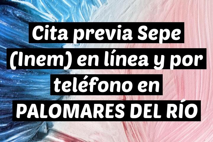 Cita previa Sepe (Inem) en línea y por teléfono en PALOMARES DEL RÍO