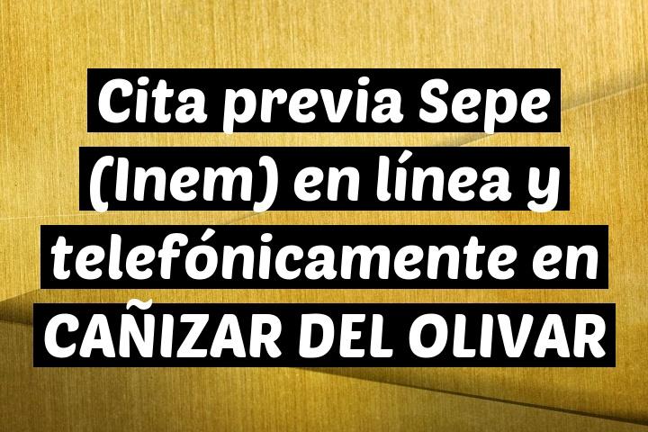 Cita previa Sepe (Inem) en línea y telefónicamente en CAÑIZAR DEL OLIVAR