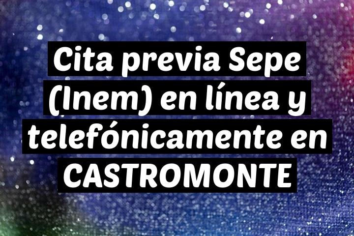 Cita previa Sepe (Inem) en línea y telefónicamente en CASTROMONTE