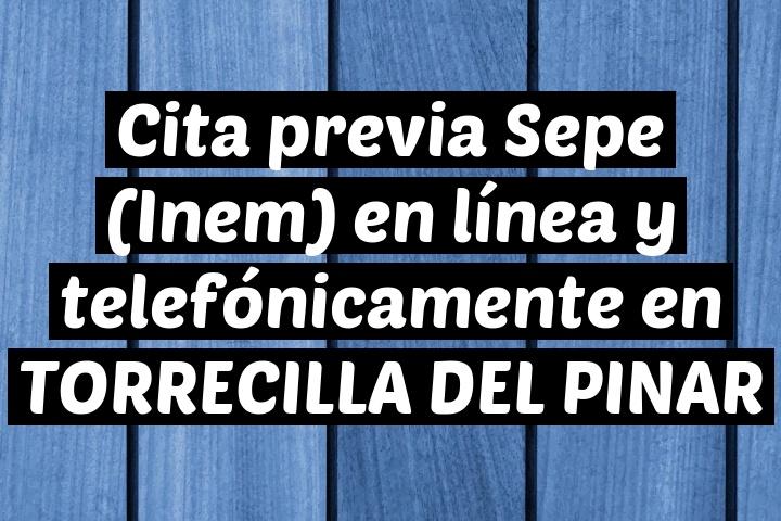 Cita previa Sepe (Inem) en línea y telefónicamente en TORRECILLA DEL PINAR