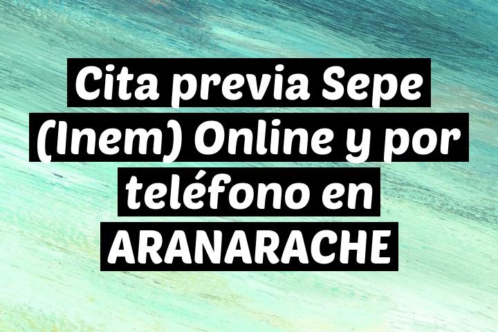 Cita previa Sepe (Inem) Online y por teléfono en ARANARACHE
