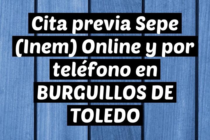 Cita previa Sepe (Inem) Online y por teléfono en BURGUILLOS DE TOLEDO