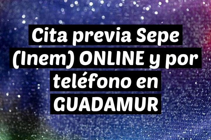 Cita previa Sepe (Inem) ONLINE y por teléfono en GUADAMUR