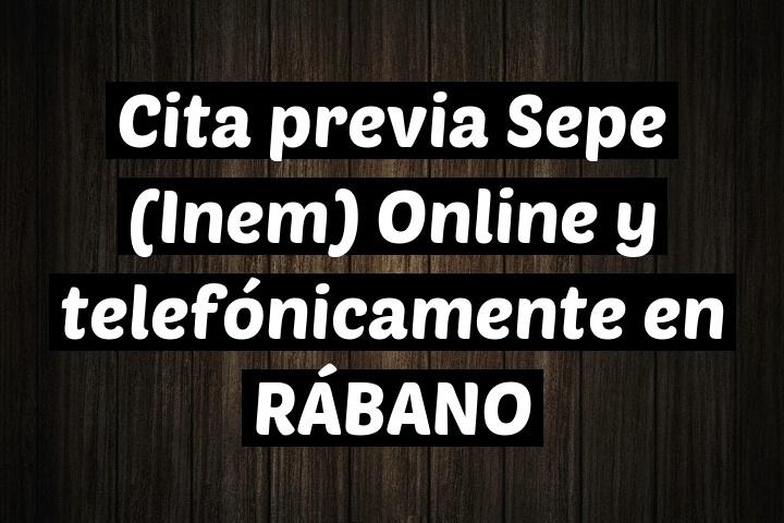 Cita previa Sepe (Inem) Online y telefónicamente en RÁBANO