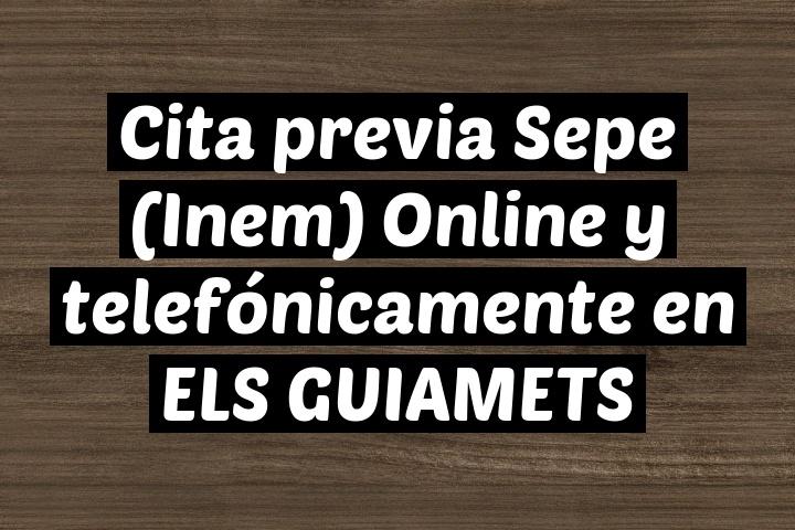 Cita previa Sepe (Inem) Online y telefónicamente en ELS GUIAMETS