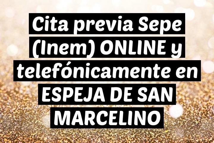 Cita previa Sepe (Inem) ONLINE y telefónicamente en ESPEJA DE SAN MARCELINO
