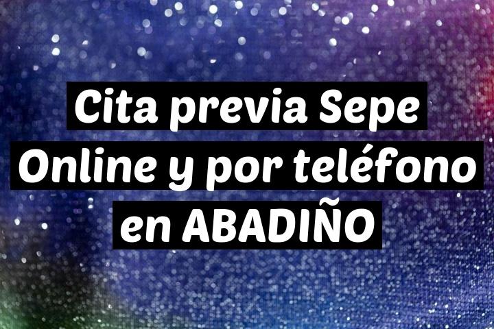Cita previa Sepe Online y por teléfono en ABADIÑO