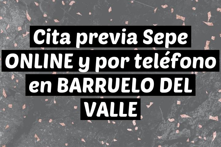 Cita previa Sepe ONLINE y por teléfono en BARRUELO DEL VALLE