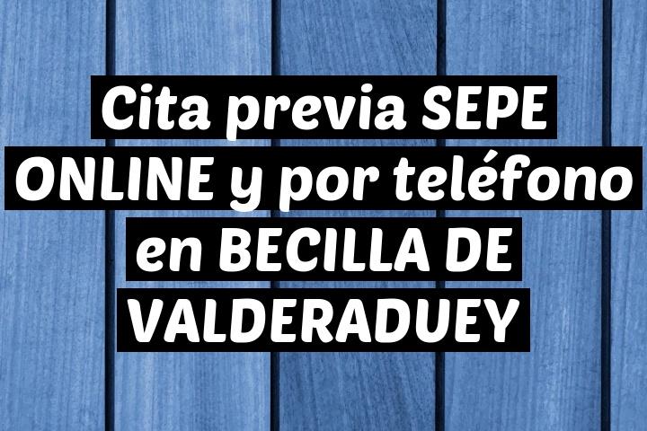 Cita previa SEPE ONLINE y por teléfono en BECILLA DE VALDERADUEY