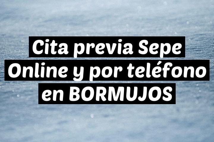 Cita previa Sepe Online y por teléfono en BORMUJOS