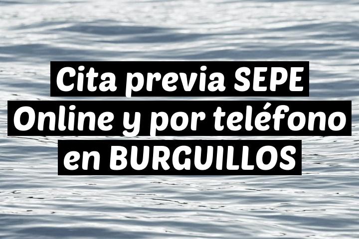 Cita previa SEPE Online y por teléfono en BURGUILLOS