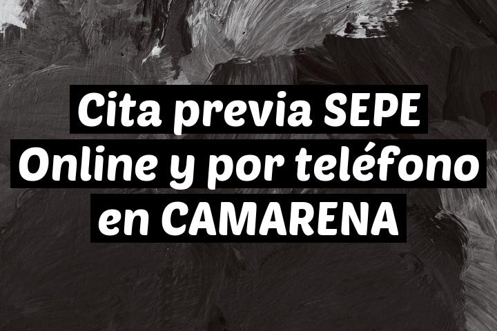 Cita previa SEPE Online y por teléfono en CAMARENA