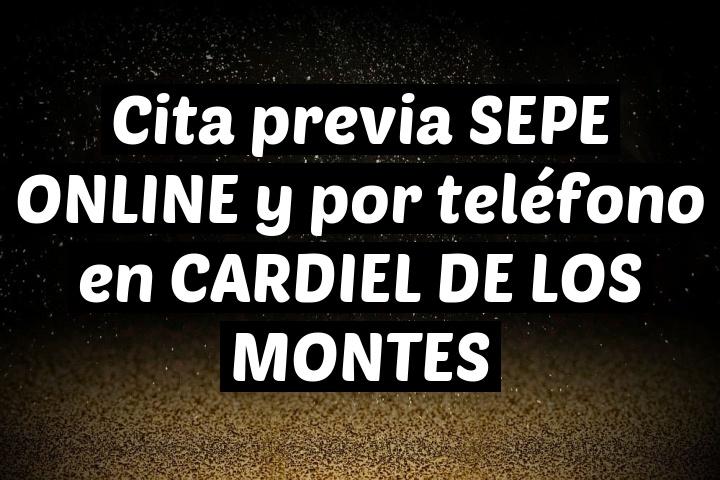Cita previa SEPE ONLINE y por teléfono en CARDIEL DE LOS MONTES