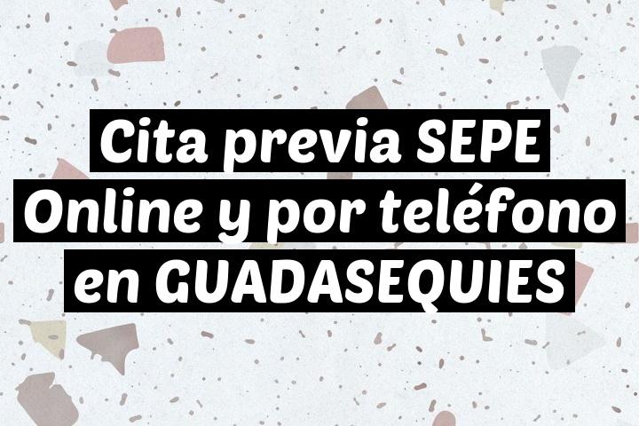 Cita previa SEPE Online y por teléfono en GUADASEQUIES