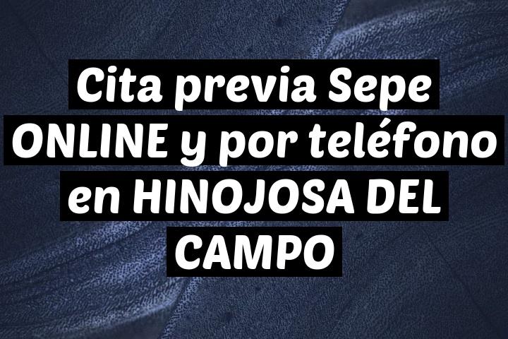 Cita previa Sepe ONLINE y por teléfono en HINOJOSA DEL CAMPO