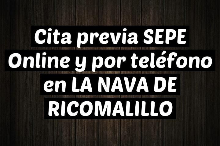 Cita previa SEPE Online y por teléfono en LA NAVA DE RICOMALILLO