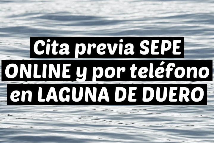 Cita previa SEPE ONLINE y por teléfono en LAGUNA DE DUERO
