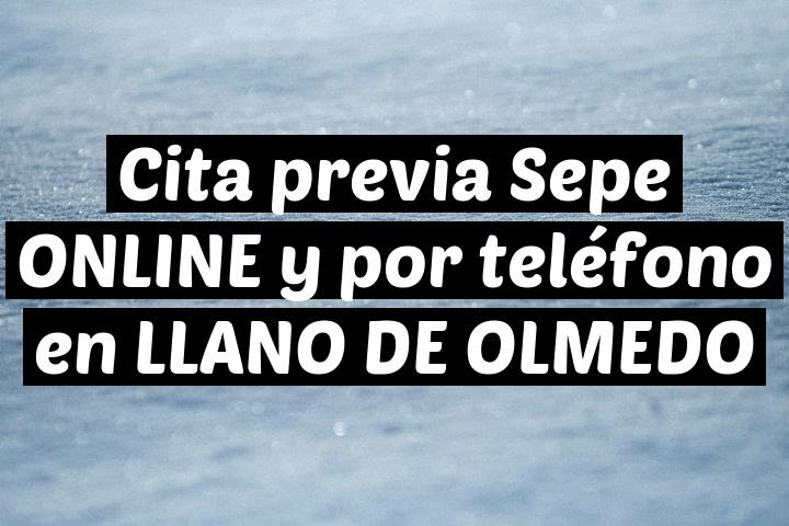 Cita previa Sepe ONLINE y por teléfono en LLANO DE OLMEDO