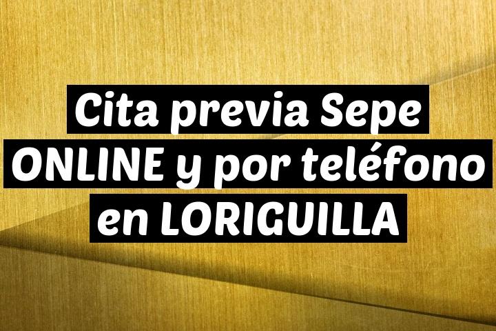 Cita previa Sepe ONLINE y por teléfono en LORIGUILLA