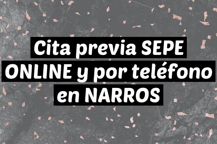 Cita previa SEPE ONLINE y por teléfono en NARROS