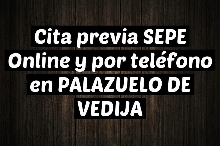 Cita previa SEPE Online y por teléfono en PALAZUELO DE VEDIJA