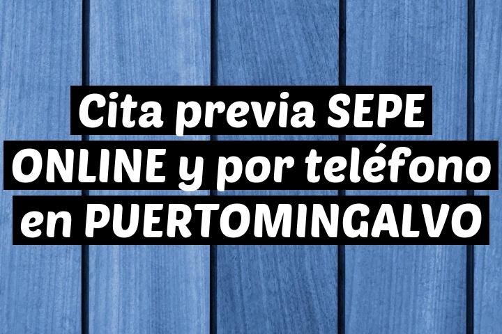 Cita previa SEPE ONLINE y por teléfono en PUERTOMINGALVO