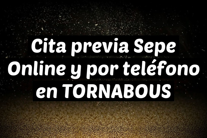 Cita previa Sepe Online y por teléfono en TORNABOUS