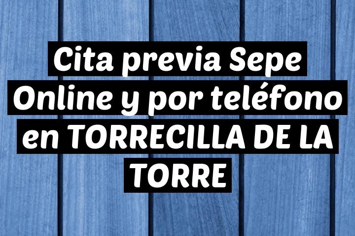 Cita previa Sepe Online y por teléfono en TORRECILLA DE LA TORRE